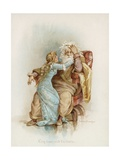 Shakespeare's King Lear and Cordelia Giclee Print by Frances Brundage
