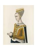 Margaret, Queen of James III of Scotland, c 1483, Half Length Portrait Giclee Print by Henry Shaw
