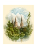 Lichfield Cathedral, South West Giclee Print by Arthur Wilde Parsons