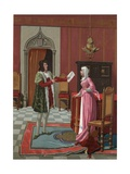 Enrique de Villena Telling His Wife That He Has Been Elected Master of Calatrava Giclee Print by P. Y. Valor