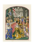 The Sovereigns of Europe Worshipping St George, Late 15th Century Giclee Print by Henry Shaw
