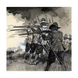 King Gustavus Adolphus of Sweden Armed His Swedish Infantry with a Light Musket Giclee Print by  English School