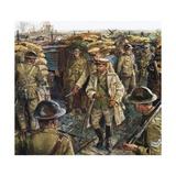 King George V Visiting the Troops Fighting in France Giclee Print by Clive Uptton