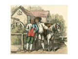 Cheery Praising the Pony Giclee Print by Charles West Cope