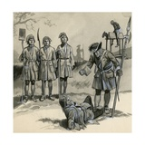 Soldiers in Queen Anne's Reign Giclee Print by  English School