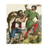 Robin Hood and Little John Taking Home the Fat Buck Giclee Print by F. Tayler