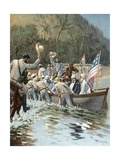 General Shafter and Admiral Sampson Landing on the Beach at Aserradero, June 20, to Confer with… Giclee Print by Thure De Thulstrup