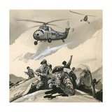 The Royal Marine Commandos in a Trouble Spot in the 1960s Giclee Print by  English School