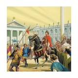 Theodoric Enters Rome in the Year AD 500 Giclee Print by Severino Baraldi