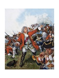 George II at Dettingen Giclee Print by Clive Uptton
