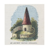 An Ancient British Dwelling Giclee Print by  English School