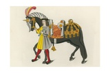 Horse and Attendant, 1511 Giclee Print by Henry Shaw