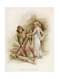 Ferdinand and Miranda from Shakespeare's the Tempest Giclee Print by Frances Brundage