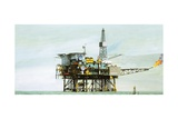 An Oil Rig Giclee Print by Clifford Meadway