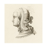 Head Dress IV, Early 16th Century Giclee Print by Henry Shaw