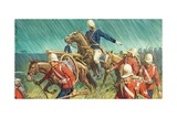 Lord Chelmsford and His Men in the Zulu Wars Giclee Print by Severino Baraldi