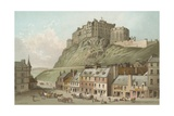 The Castle from the Grassmarket - Edinburgh Giclee Print by  English School