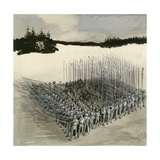 A Phalanx of Ancient Greek Soldiers Giclee Print by  English School