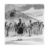 The Royal Marines Occupying the Newly Acquired Island of Hong Kong Giclee Print by  English School