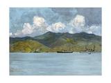 Our War-Ships Off the Coast Near Santiago de Cuba, June 3, 1898 Giclee Print by Carlton T. Chapman