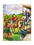 Charles II, the King Who Loved Horse Racing Giclee Print by Peter Jackson