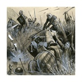 The Battle of Courtrai Giclee Print by  English School
