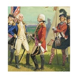 Surrender of Lord Cornwallis to George Washington Giclee Print by Severino Baraldi