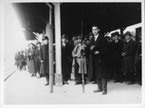 The Rev. Richards Holding Bow, Leaving Yamaguchi Station in 1927 Photographic Print by  Japanese Photographer