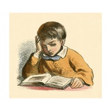 Boy Reading Giclee Print by  English School