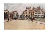 Houses and Shops on the Seine Giclee Print by Mortimer Ludington Menpes