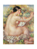 Large Seated Nude, 1912 Giclee Print by Pierre-Auguste Renoir