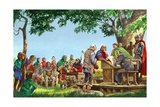 The Laws of the Manor in Norman Times Giclee Print by Peter Jackson