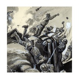Infantry Attack in World War I Giclee Print by  English School
