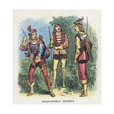 Anglo-Norman Archers Giclee Print by  English School