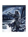 Samurai Warrior Giclee Print by Dan Escott