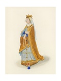 Queen Phillippa, c 1525 Giclee Print by Henry Shaw