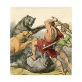 Tom and the Tinker Killing the Bears and Lions Giclee Print by  English School