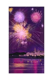 Fireworks in Malta Giclee Print by Angus Mcbride