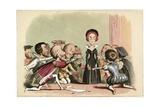 Lady Jane Dudley Pressed to Accept the Crown Lámina giclée por Richard Doyle