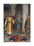 Death of Odoacer, Killed by Theodoric, King of the Ostrogoths Giclee Print by Tancredi Scarpelli