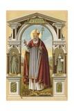 St Patrick Giclee Print by  English School
