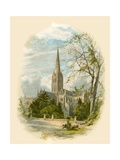 Salisbury Cathedral, from the Bishop's Palace Giclee Print by Arthur Wilde Parsons