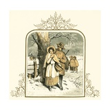 Love in the Snow Giclee Print by Miles Birkett Foster