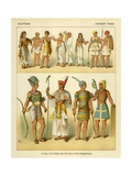 Egyptian Costumes Giclee Print by Albert Kretschmer