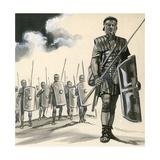 Roman Soldier Giclee Print by  English School
