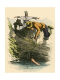 The Marquis of Carabas Is Saved by the King Giclee Print by  English School