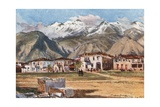 Sparta and Mount Taygetus Giclee Print by John Fulleylove