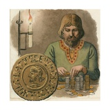 Early English Coins Were Subject to Clipping Giclee Print by Ronald Lampitt
