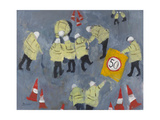 Hole in the Road, 2011 Giclee Print by Susan Bower