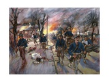 The Ammunition-Train and Reserves of the Twentieth Kansas Volunteers, Colonel Frederick Funston,… Giclee Print by G. W. Peters